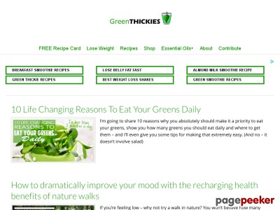 green smoothie weight loss plans
